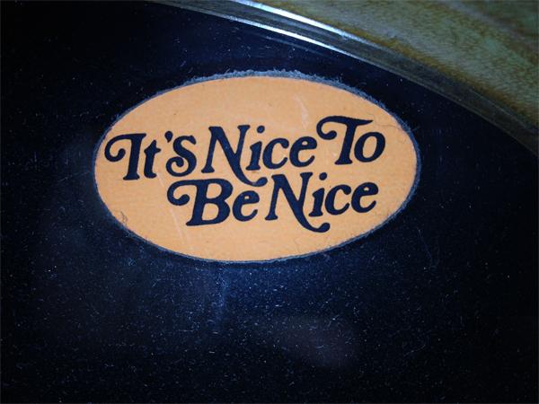 nice to be nice small
